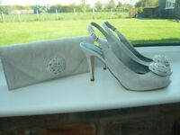 Wedding outfit shoes and matching bag