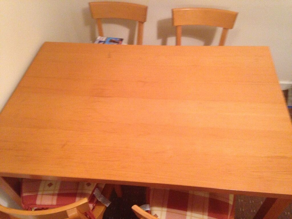 table and 4 chairs for sale 40 in rutherglen glasgow gumtree