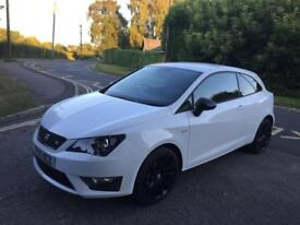 2015 SEAT IBIZA 1.4 TSI ACT FR BLACK SPORT COUPE NEW MOT LOW MILEAGE 20000 CAT D