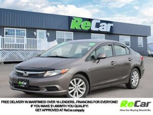2012 Honda Civic EX SUNROOF | ONLY $57/WK TAX INC. $0 DOWN