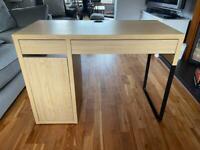 IKEA MICKE oak effect desk