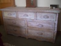 7 drawer rattan chest of drawers