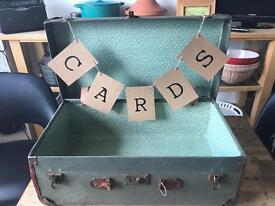 Old suitcase for wedding cards