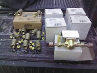 Brand New Electric Zone Valves and 3/8 Brass Ball Valves