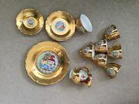 Gold Ornate tea set 6 settings