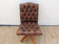 Leather Muirhead captains chair (delivery)