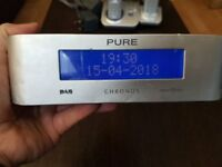 Pure Digital Chronos Silver DAB Digital Radio good condition N1600