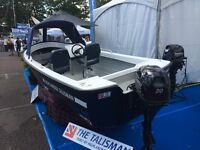 NEW TALISMAN BOAT PACKAGE WITH 20HP TOHATSU OUTBOARD WITH P/TRIM