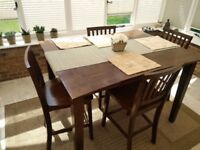 NICE Modern DINING Pub TABLE and Chairs WOOD with Extension