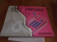 New Daewoo Uni Telephone with large numbers