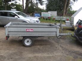 CONWAY 500KG FULLY GALVANISED 7 X 4-6 FLATBED DROPSIDE TRAILER ...
