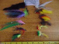 Predator Fishing Flies ,11 mixed flies