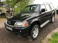 Mitsubishi shogun sport warrior Black 2.5td. full leather.