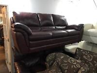 Brown 3 11 leather sofa set