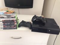 Xbox 360 Elite with two Controllers and 20 Games