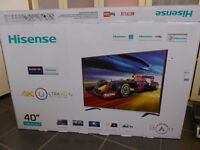Broken screen Hisense 40 inch 4k TV
