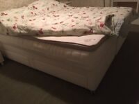 King size Ikea bed, mattresses and mattress cover