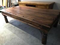 Indian Teak coffee table and lamp tables
