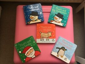 Usbourne Touchy-Feely Books 'That's not my ...' - Christmas Xmas themed - in excellent condition.