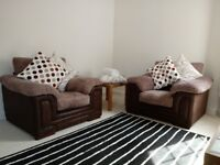 Two large armchair single sofas seats. Good quality, unmarked, as new. Portishead location