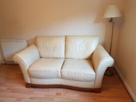 Leather 2 seater sofa and armchair £50 ono.
