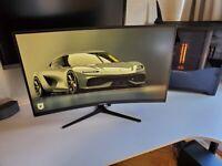 "electriq 32"" QHD HDR 165Hz FreeSync RGB Curved Gaming Monitor eiQ-32CVQ165VAFSGH"
