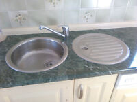 Circular kitchen sink and circular drainer for sale