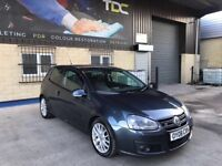 2008 VOLKSWAGEN GOLF GT SPORT GT TDI 140 Bhp 6 speed 3 door hatchback