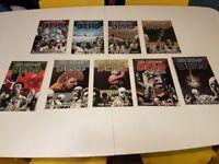 The Walking Dead comics volumes 1-9