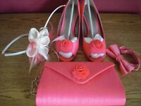 Jaques Vert coral coloured accessories