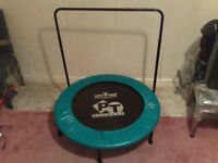 SUPERTRAMP PT BOUNCER TRAMPOLINE WITH SUPPORT BAR & DVDS & VIDEOS & BOOKS & EXERCISE CHART & SPARES