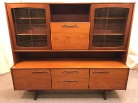 Teak Sideboard G Plan Wall Unit 1960's Cocktail Bar Retro Vintage Display Bookcase