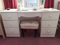 Dressing table, bedside cabinets and chest of drawers