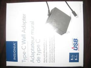 Insignia 90W USB Type C (Thunderbolt) Wall Charger / Fast Charger for Macbook / Dell Laptop / Chromebook / Ultrabook PC
