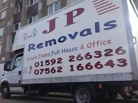 J P REMOVALS, LARGE OR SMALL, LOCAL OR DISTANCE, REMOVALS AND STORAGE, KIRKCALDY, FIFE, EDINBURGH.