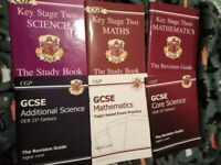 6x CGP Study Books & Revision Guides - Maths / Science - Key Stage Two / Three - GCSE