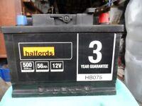 Halfords HB075 Lead Acid 12V Car Battery