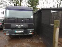 Man 7.5 ton chassis cab 21 foot