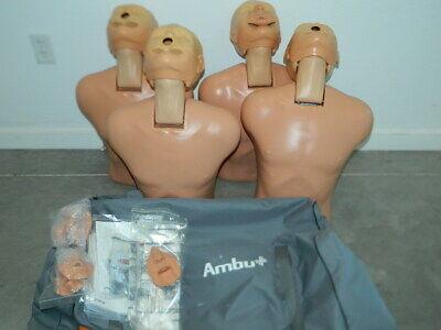 4x Ambu Cpr Pal Training Emt Medical Manikin Mannequins W Bag 259004000