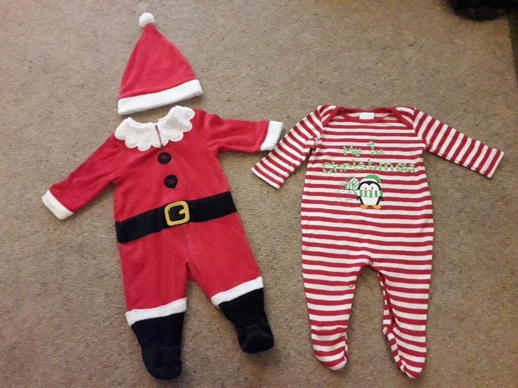 4636ac71f660 Santa baby outfit & My first Christmas sleepsuit 3 months clothes | in ...