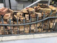 BRICKS, over 200 bricks mixture of yellow and brown tones must go bargain.