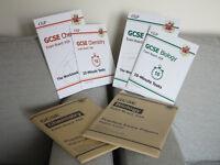 CGP GCSE Biology/Chemistry Workbook, 10 min tests and practice paper, AQA; £12 each set