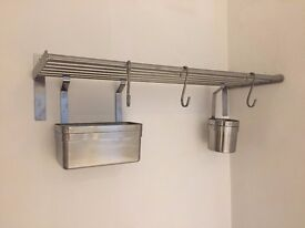 Stainless Steel Cooks Rack with Storage