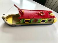 Sylvanian families vintage rose barge canal boat