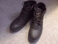 Mens brown shoes / boots size 9 NEXT