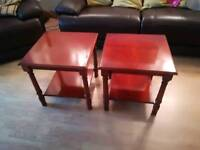 Two waring and Gillow side tables