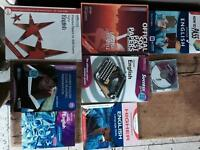 Higher English books.