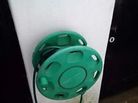 very long garden hose with wall mounted reel
