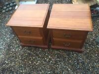 2 x Solid Pine Bedside Cabinets.