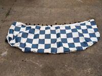 VW T5 Bonnet Bra, blue chequered pattern